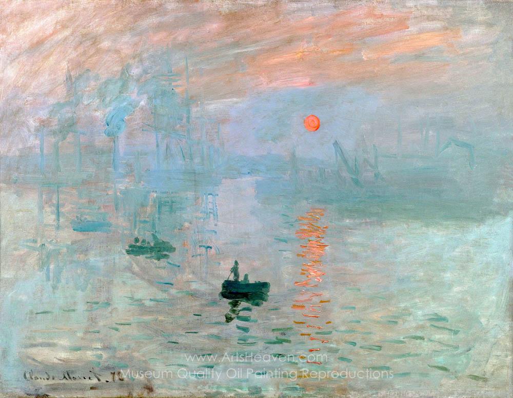 Monet impression sunrise paintings high quality
